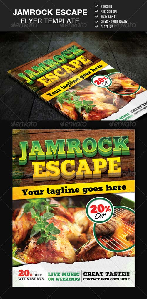 GraphicRiver Jamrock Escape Flyer Template