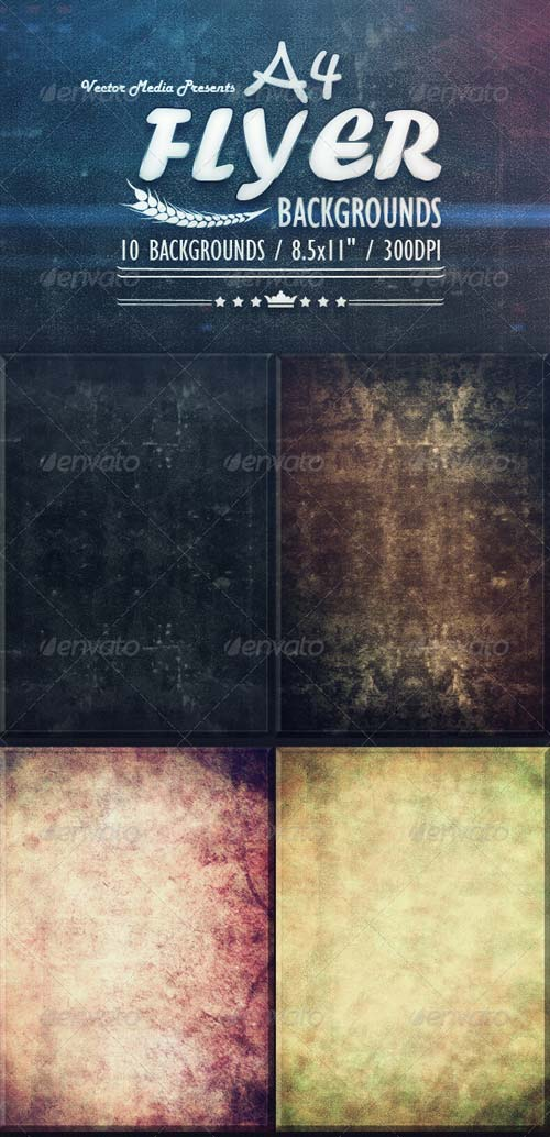 GraphicRiver A4 - Flyer Backgrounds