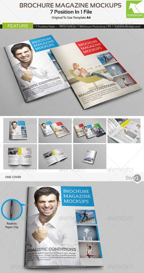 GraphicRiver Brochure Magazine Mockups