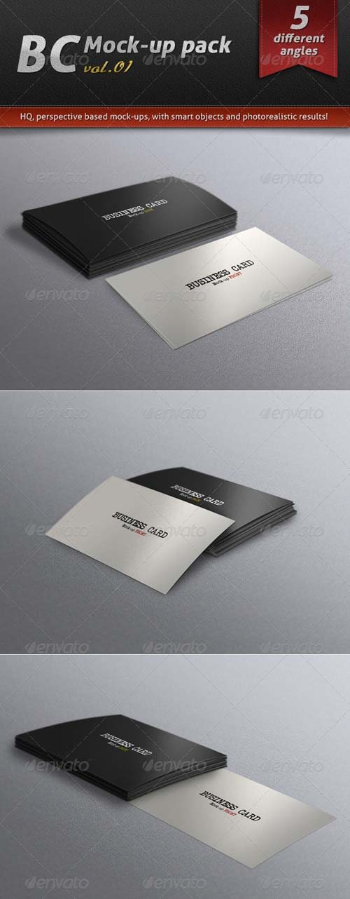 GraphicRiver Business Card Mock-up Pack Vol.01