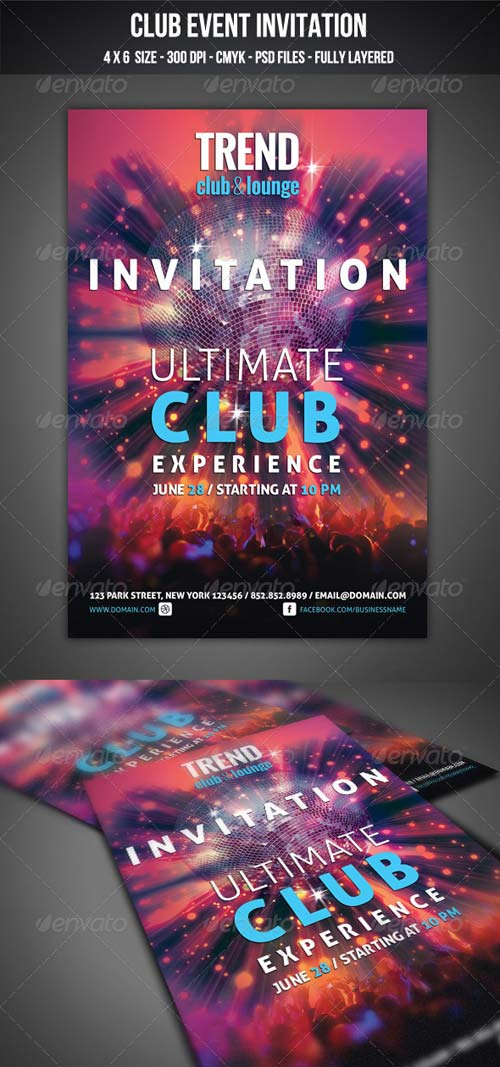 GraphicRiver Club Event Invitation