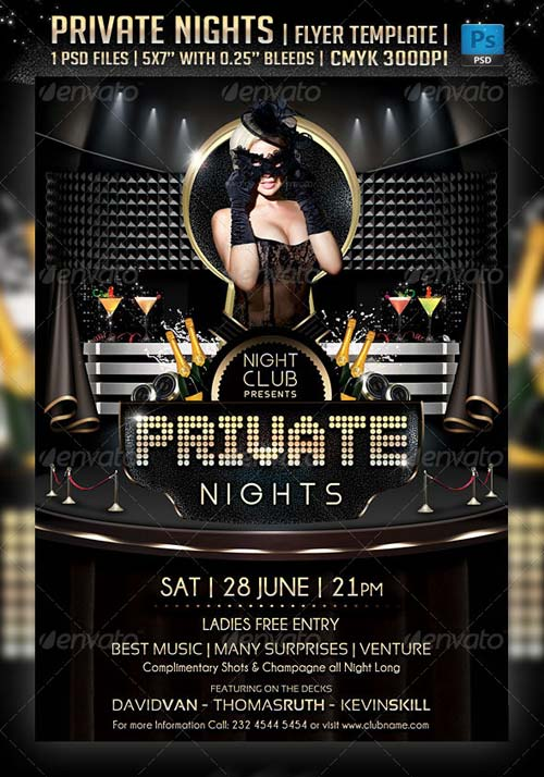 GraphicRiver Private Nights Flyer Template