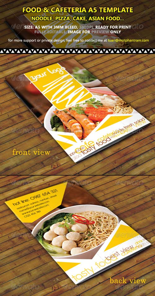 GraphicRiver Restaurant Menu A5 Fold Vol 1