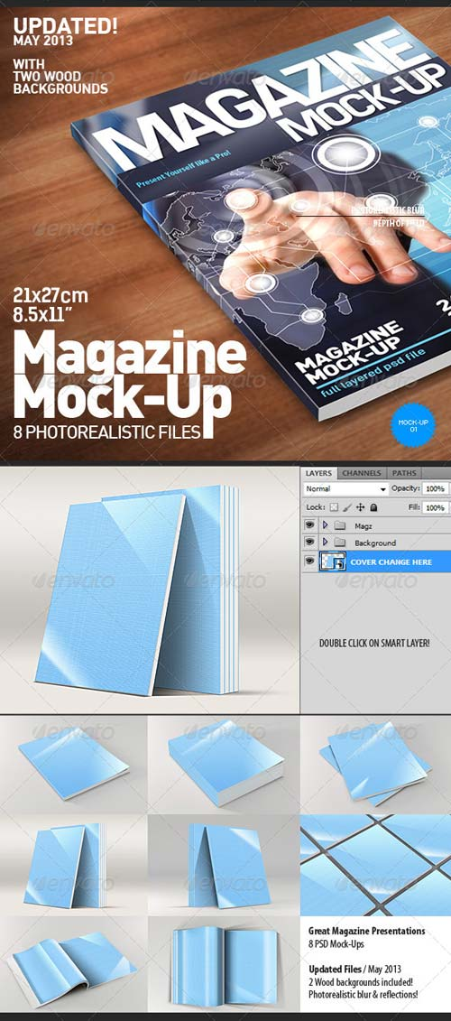 GraphicRiver Photorealistic Magazine Mock-Up 4179659
