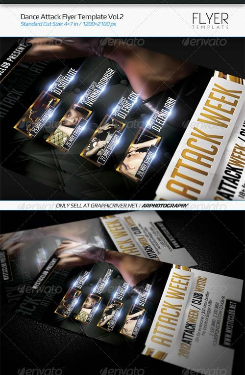 GraphicRiver Dance Attack Flyer Template Vol.2