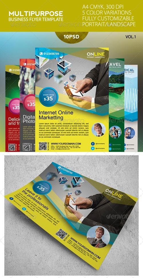 GraphicRiver Multipurpose Business Flyer Template 4579675