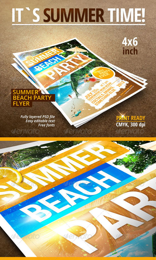 GraphicRiver Summer Beach Party flyer