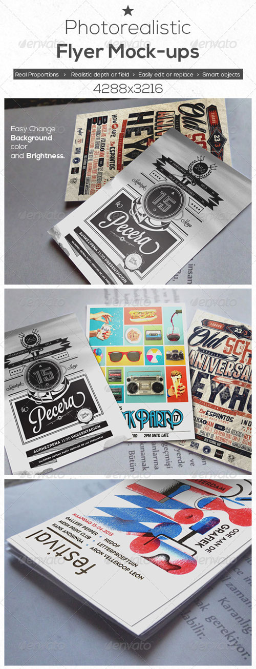 GraphicRiver Photo Realistic Flyer Mock-Ups