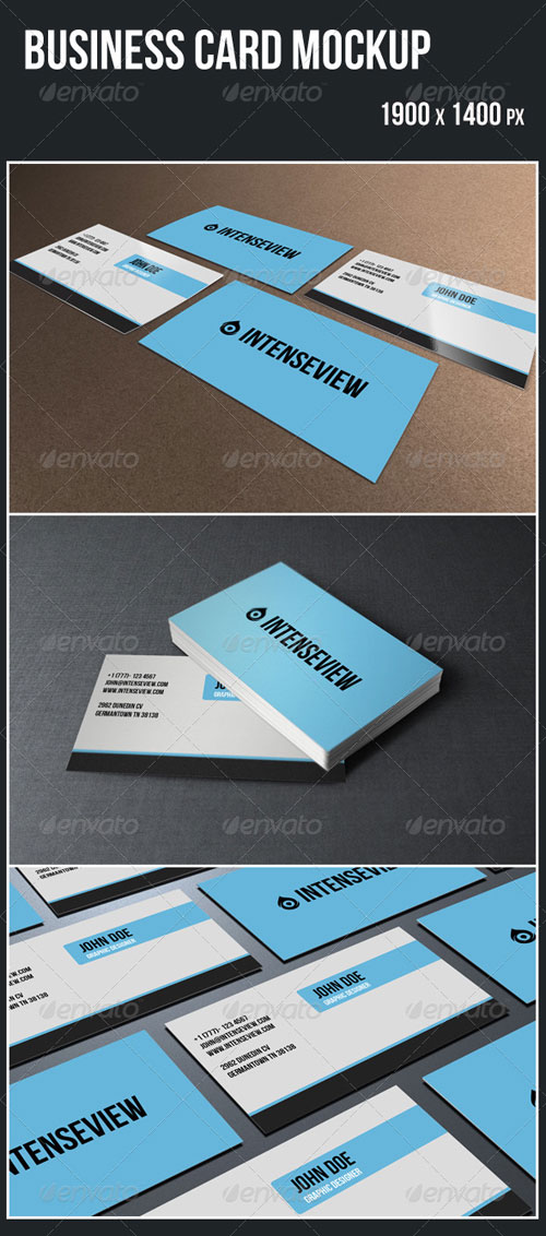 GraphicRiver Business Card Mockup 4598202