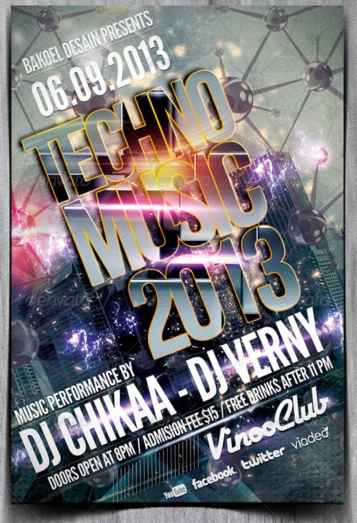 GraphicRiver Techno Music 2013 Flyer Volume 2