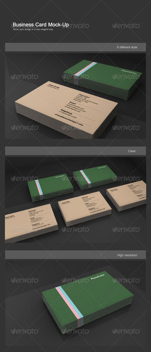 GraphicRiver Realistic Business Card Mock-Up 4589374