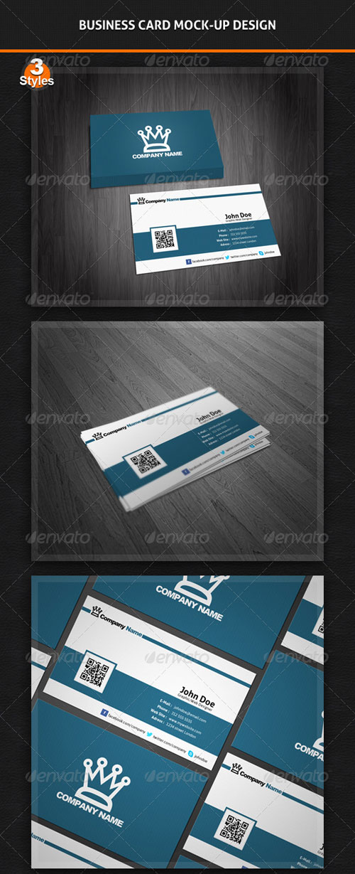 GraphicRiver Business Card Mock-Up Pack - 3 Styles