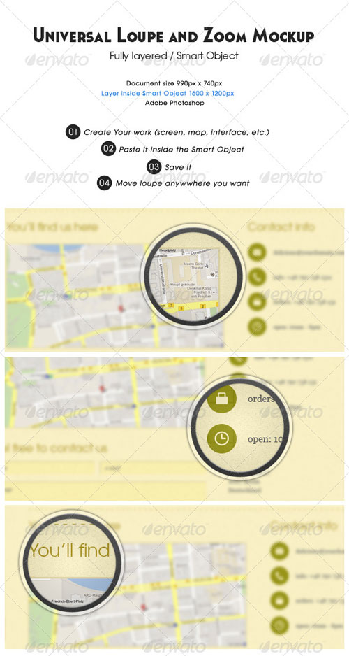 GraphicRiver Universal Loupe and Zoom Mockup
