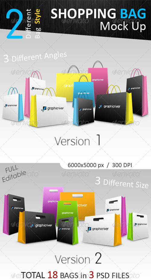 GraphicRiver Shopping Bag Mock-Ups Collection