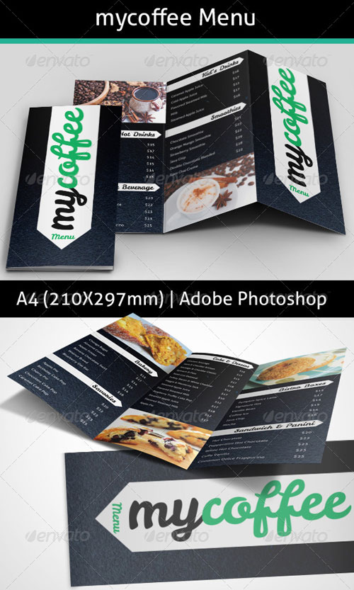 GraphicRiver MyCoffee Menu