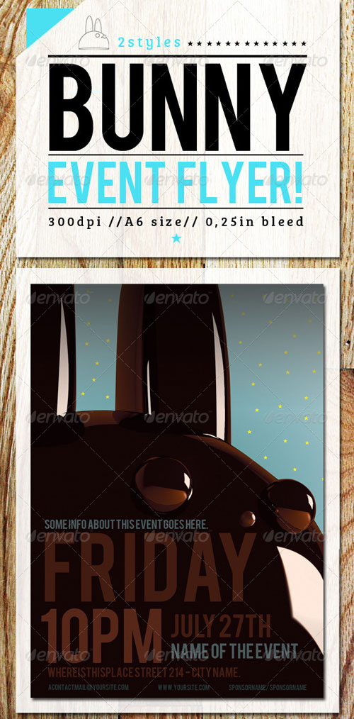 GraphicRiver Flyer Template with Bunny