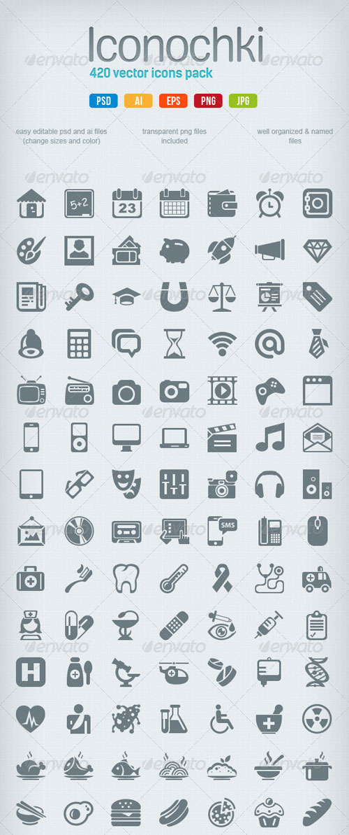 GraphicRiver Iconochki set