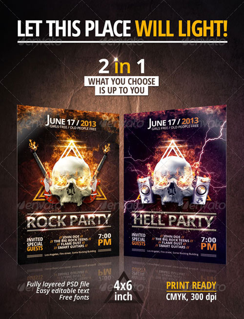 GraphicRiver Rock/Hell Party Flyer