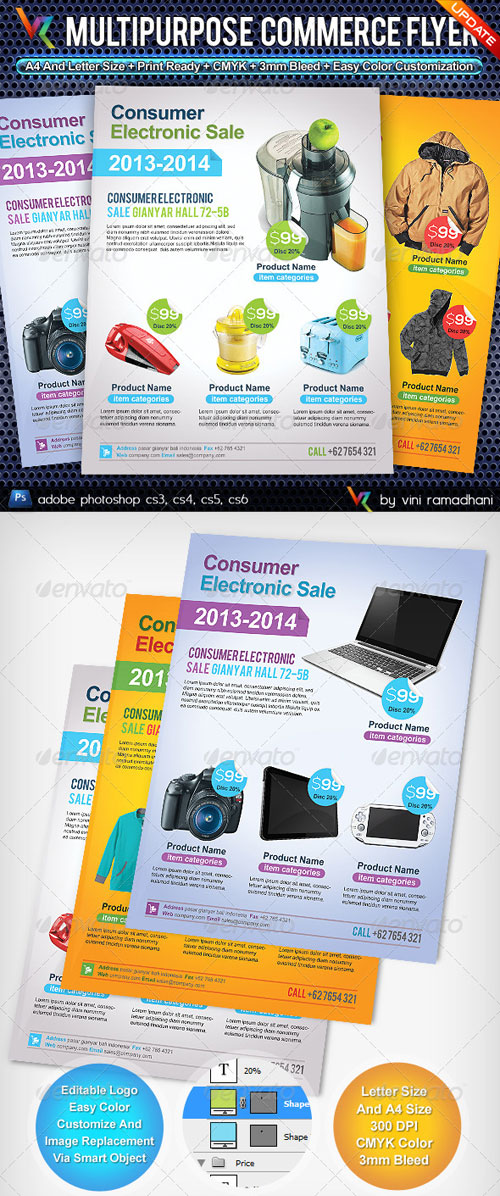 GraphicRiver Multipurpose Commerce Flyer Advert