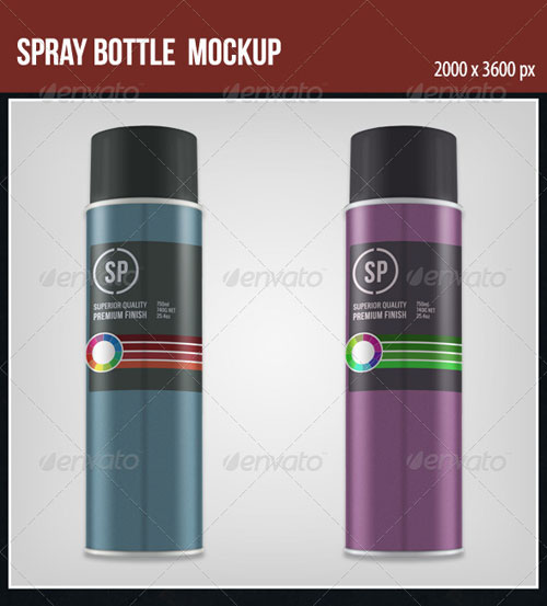 GraphicRiver Spray Bottle Mockup