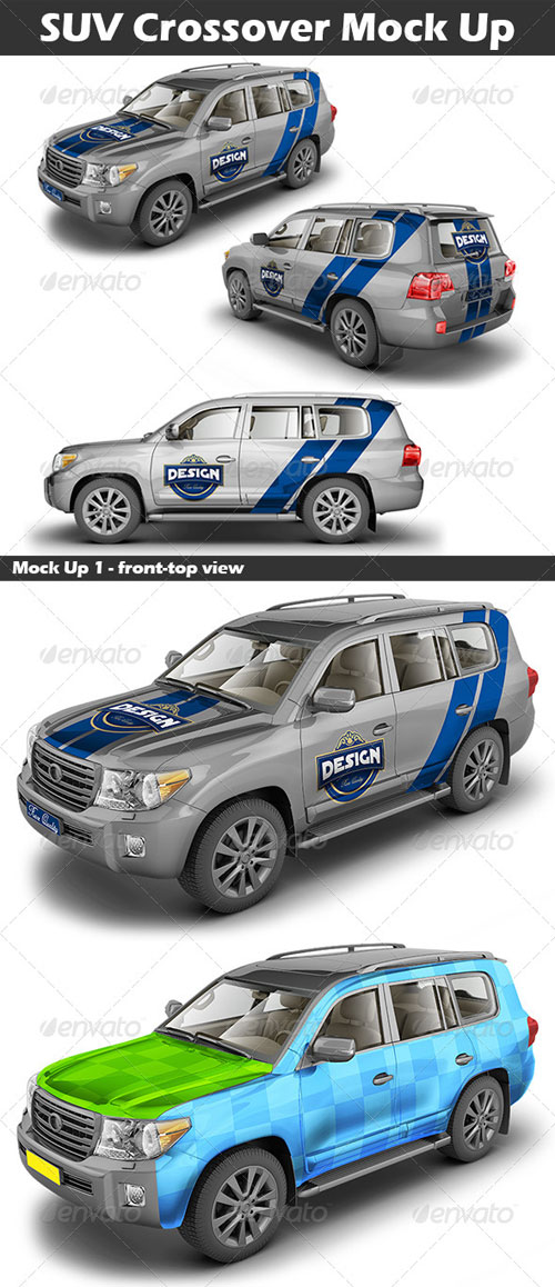 GraphicRiver SUV Crossover Mock Up