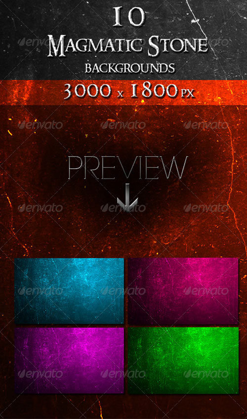 GraphicRiver 10 Magmatic Stone Backgrounds