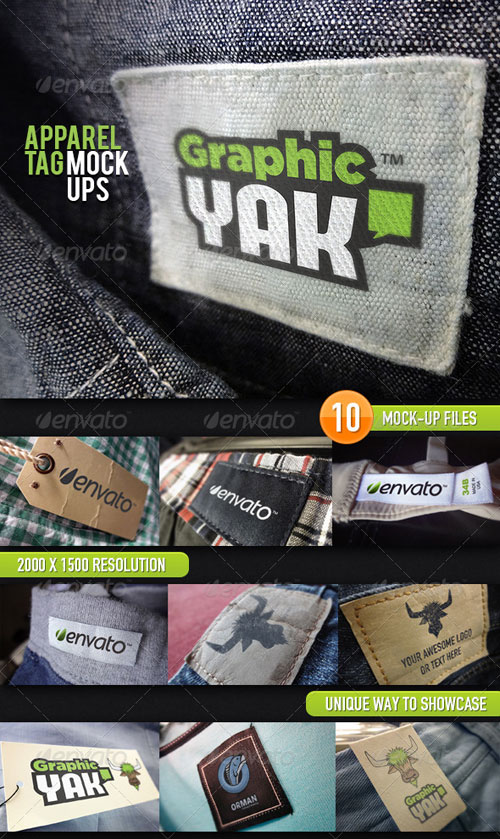 GraphicRiver 10 Apparel Tag Mock-Ups