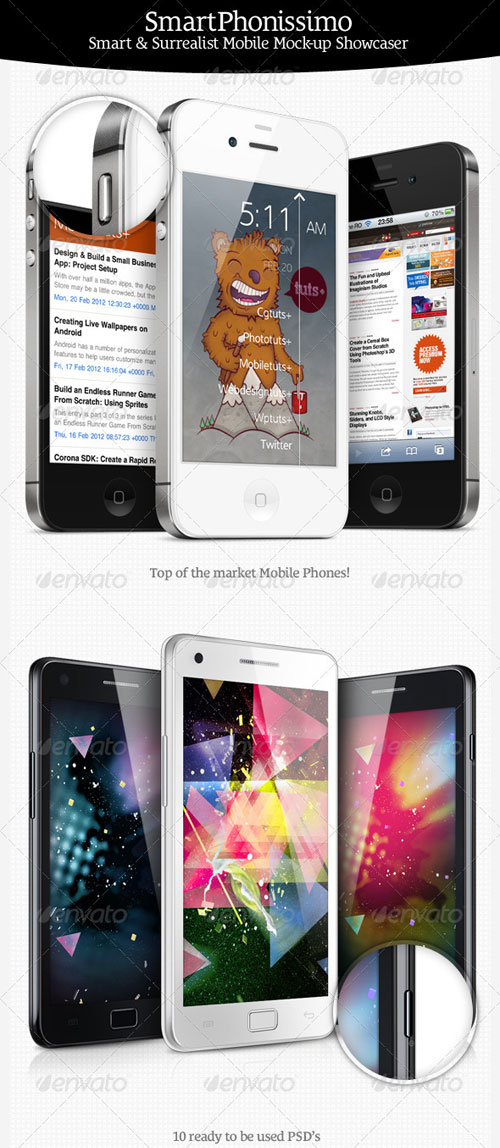 GraphicRiver SmartPhonissimo - Mobile Mock-up Showcaser