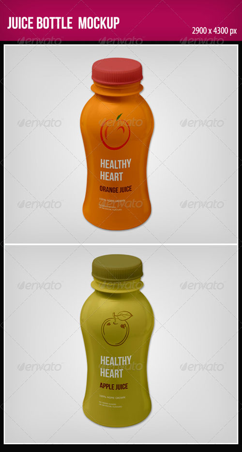 GraphicRiver Juice Bottle Mock-Up