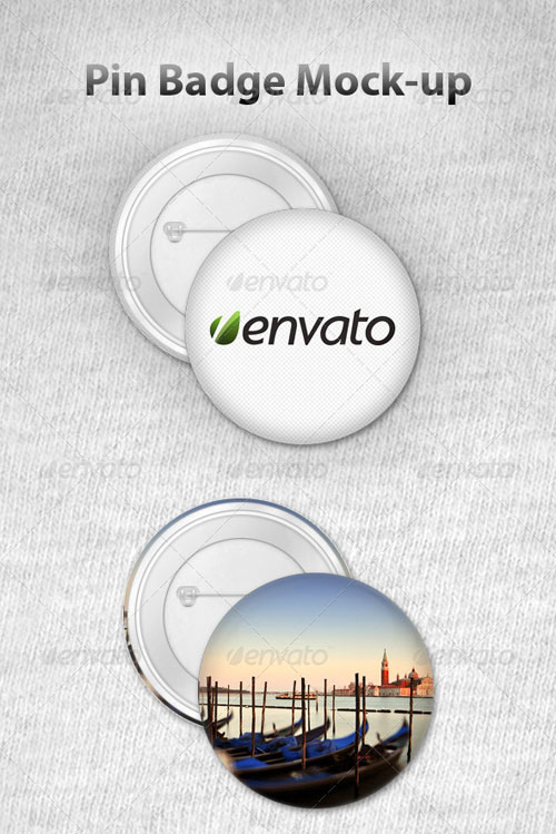 GraphicRiver Pin Badge Mock-Up