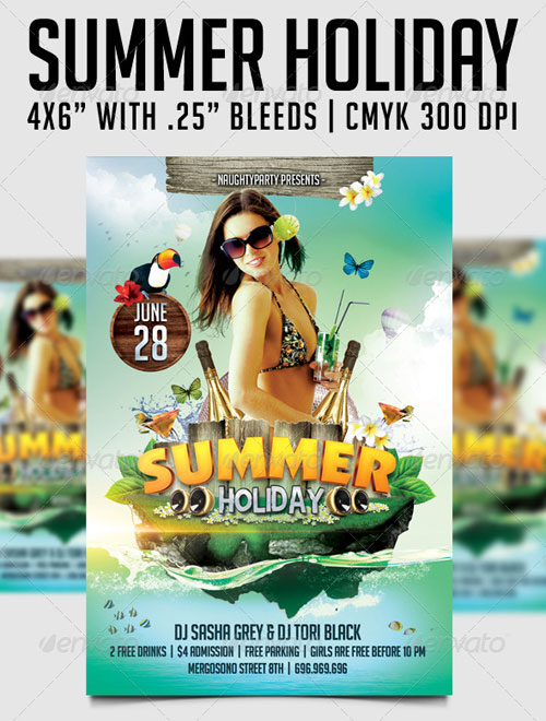 GraphicRiver Summer Holiday Flyer Template