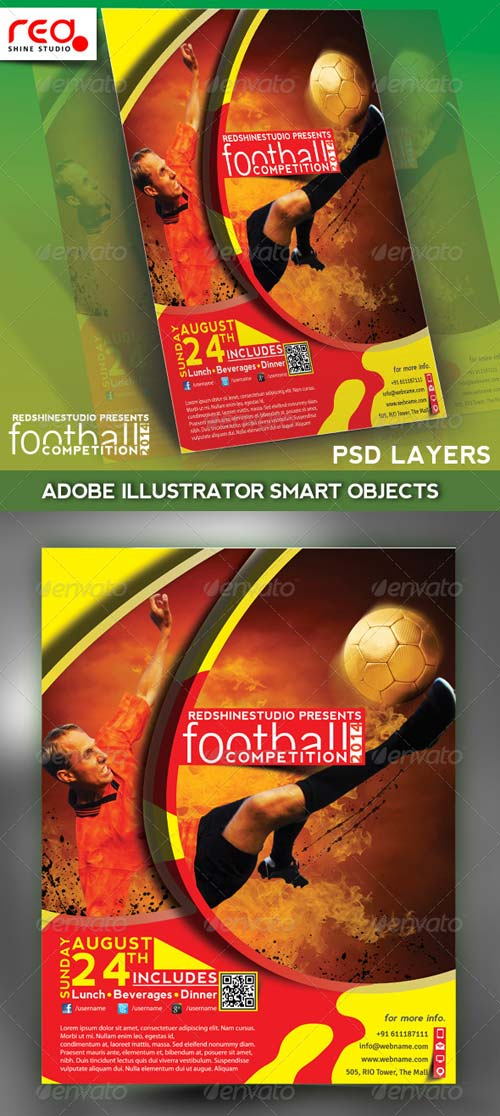 GraphicRiver Football Competitions Flyer, Poster & Magzine Temp