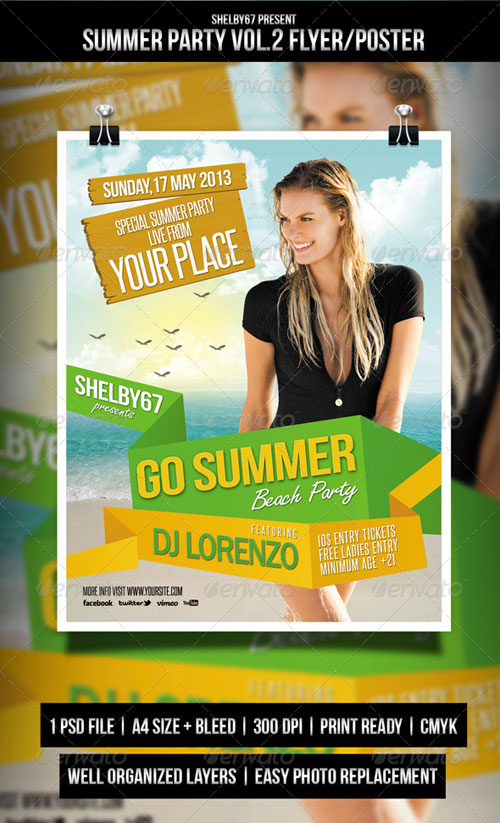 GraphicRiver Summer Party Flyer / Poster Vol.2