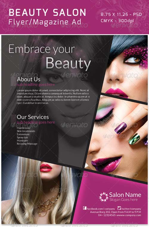 Beauty Salon Flyer  CityEsporaCo