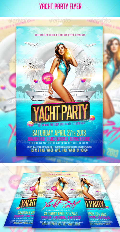 GraphicRiver Yacht Party Flyer