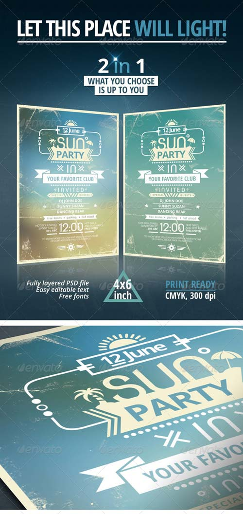 GraphicRiver Sun Party Flyer