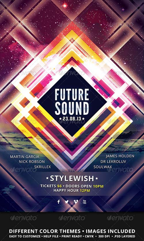 GraphicRiver Future Sound Flyer