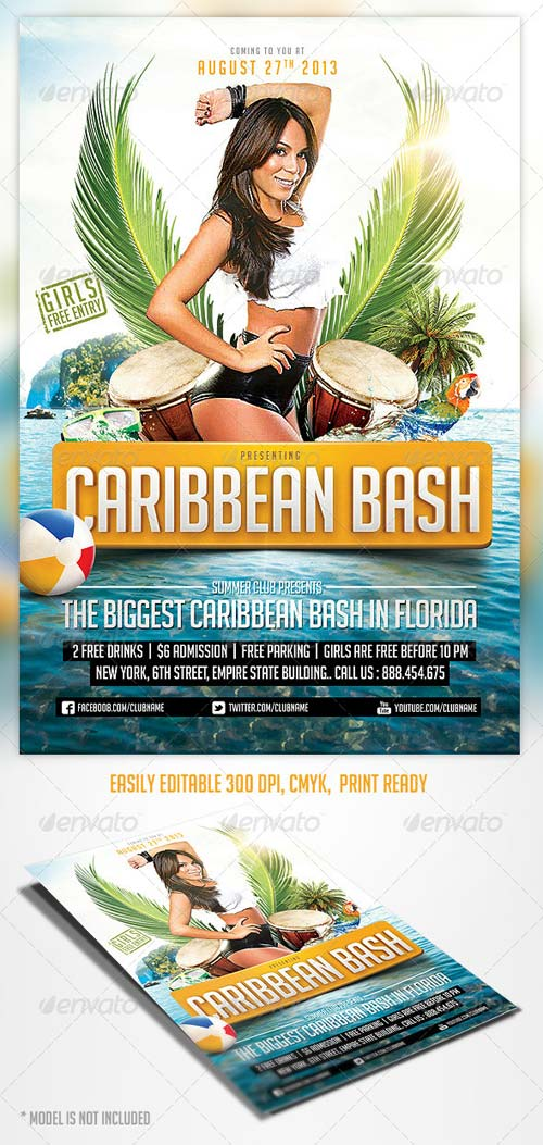 GraphicRiver Caribbean Party Flyer Template