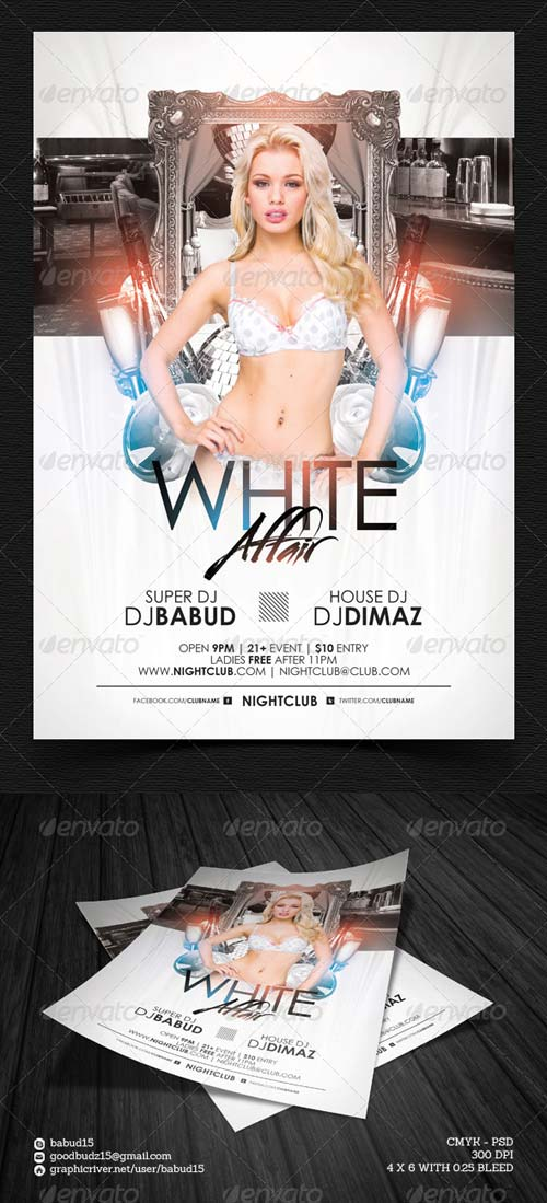 GraphicRiver White Affair Flyer Template