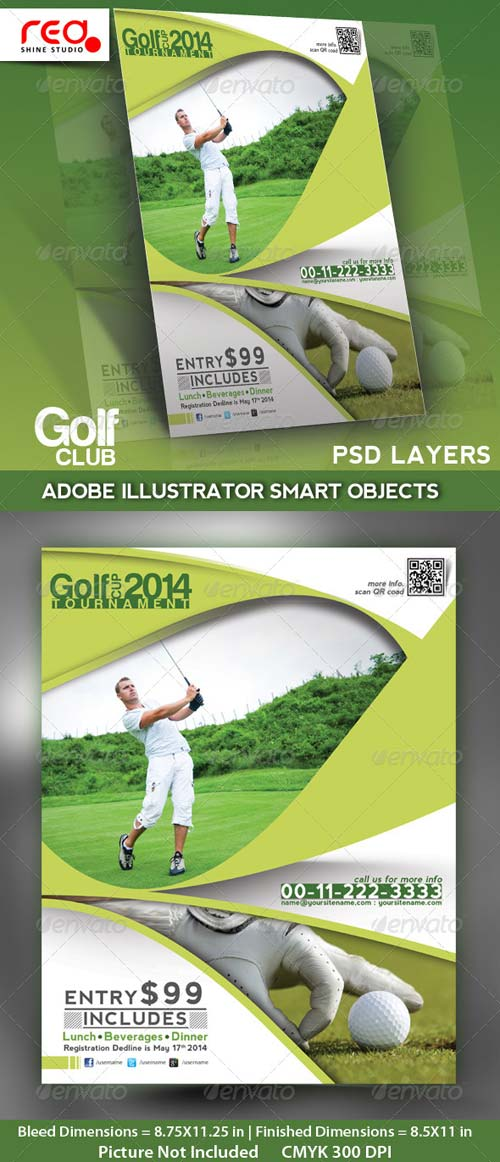 GraphicRiver Golf Club Flyer, Poster & Magzine Template