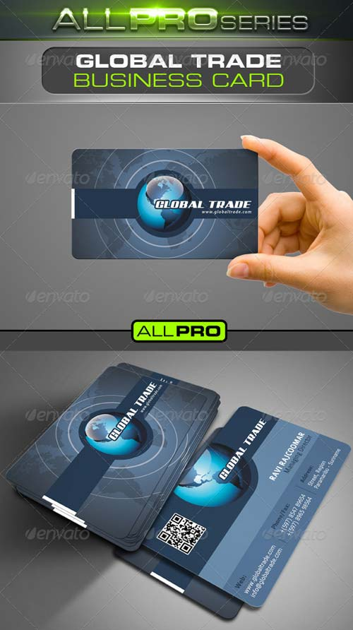 GraphicRiver Global Trade Business Card