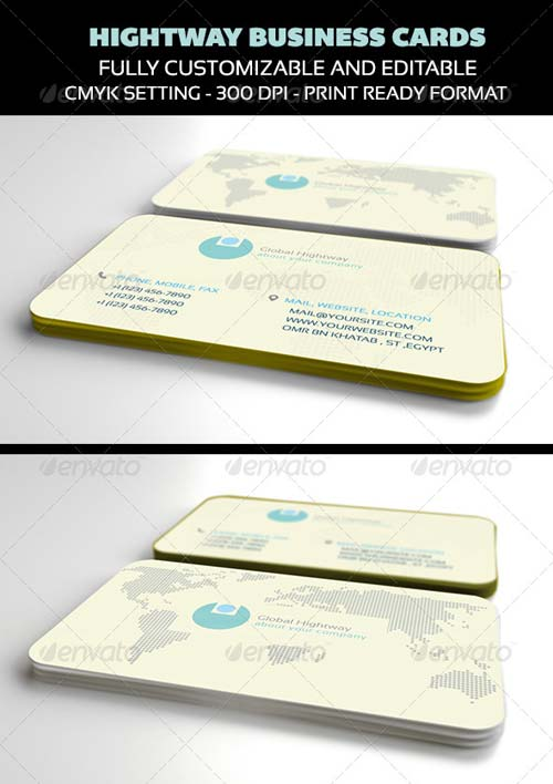 GraphicRiver Hightway Business Cards