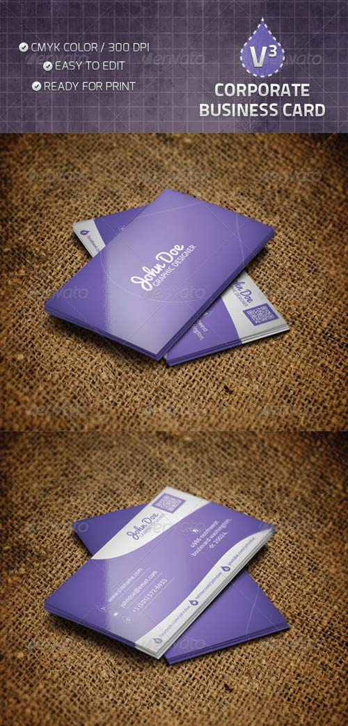 GraphicRiver Corporate Business Card V3