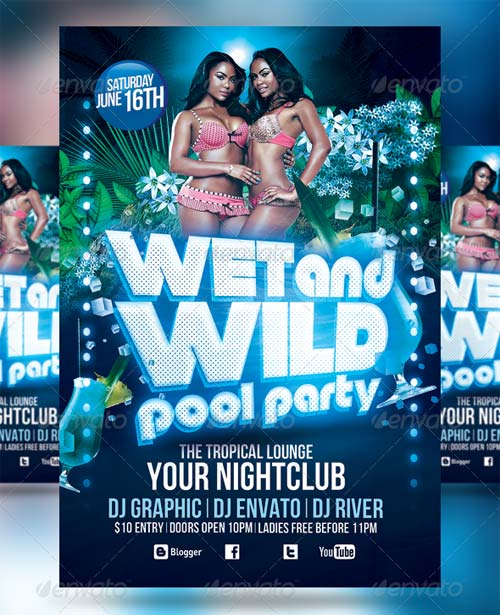 GraphicRiver Pool Party Flyer 4731399