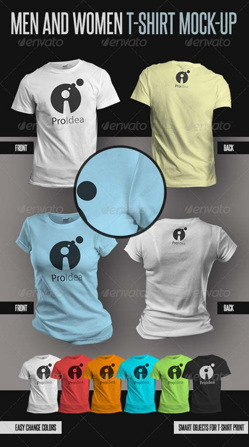 GraphicRiver Men and Women T-Shirts Mock-Ups