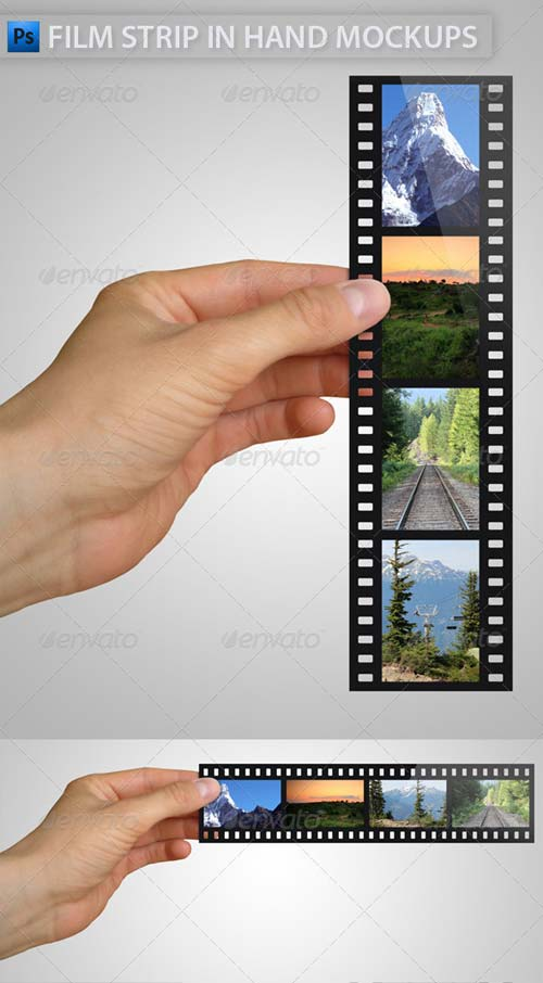 GraphicRiver Film Strip in Hand Mock-Ups