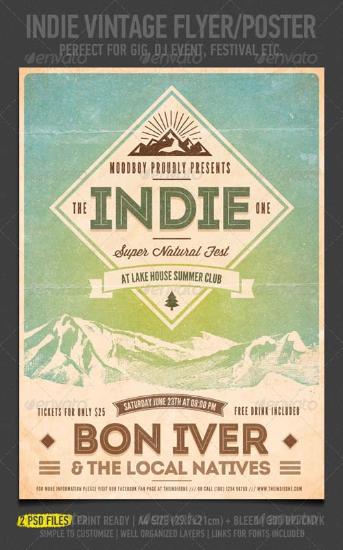 GraphicRiver Indie Vintage Flyer/Poster