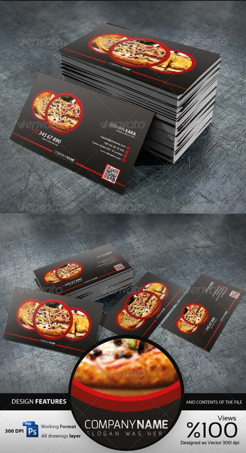 GraphicRiver Pizza Time - Business Card