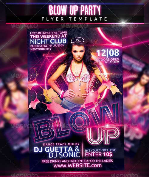 GraphicRiver Blow Up Party Flyer Template