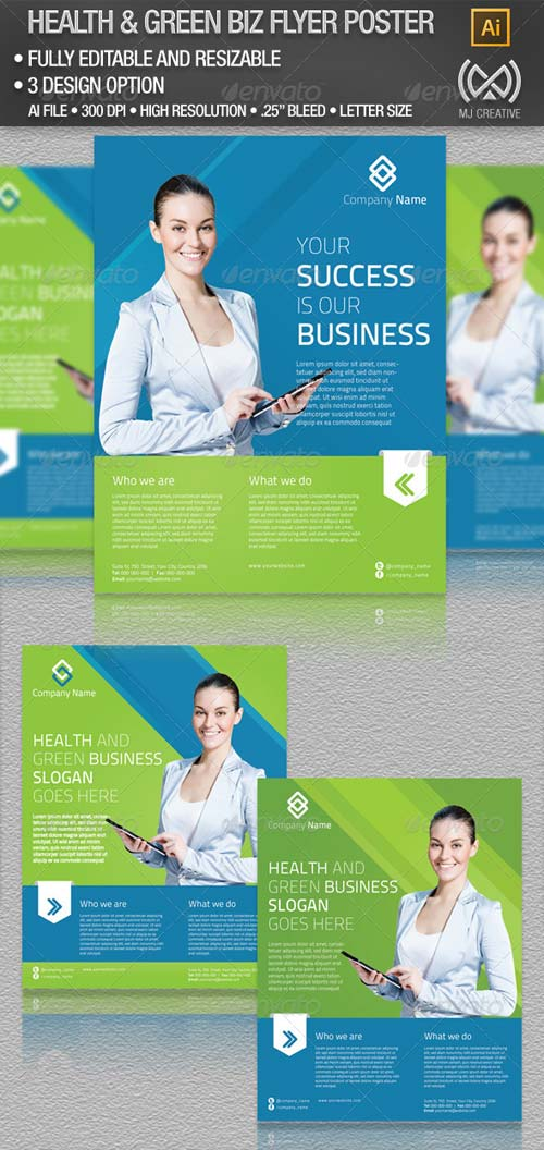 GraphicRiver All Purpose Health & Green Business Flyer